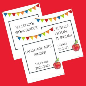 having binder set up with a cute cover can help your kids feel more excited about homeschool