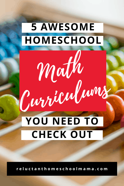 there are many homeschool math curriculums to choose from