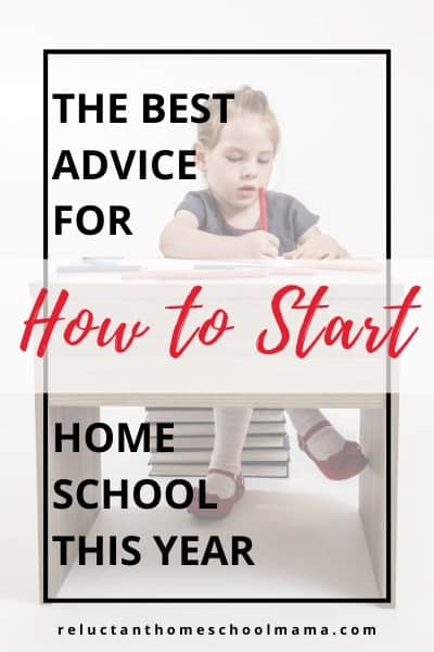 you can start home school in one small area of your home