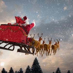 Santa tracker is a great homeschool Christmas tradition