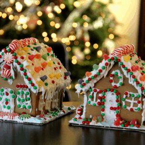 gingerbread house homeschool Christmas tradition