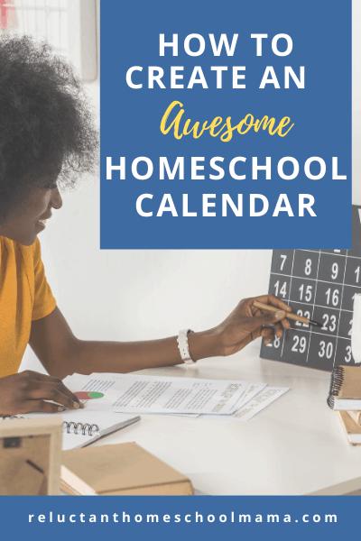 homeschool calendar planning