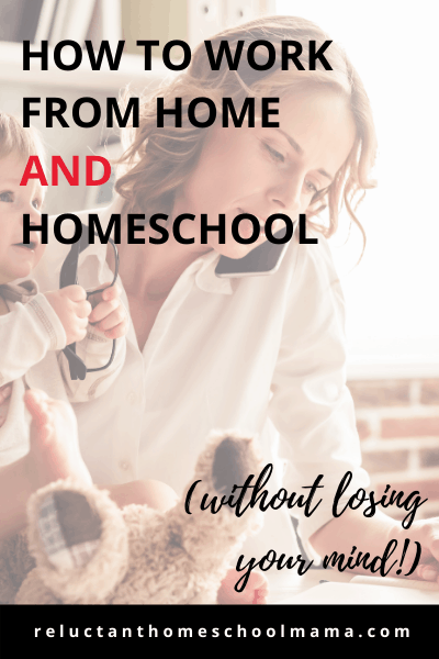 working from home and homeschooling