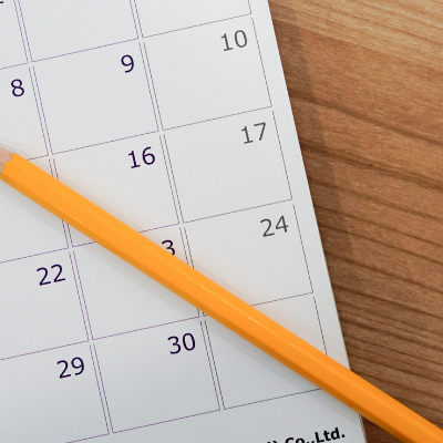use a pencil to schedule your homeschool unit study