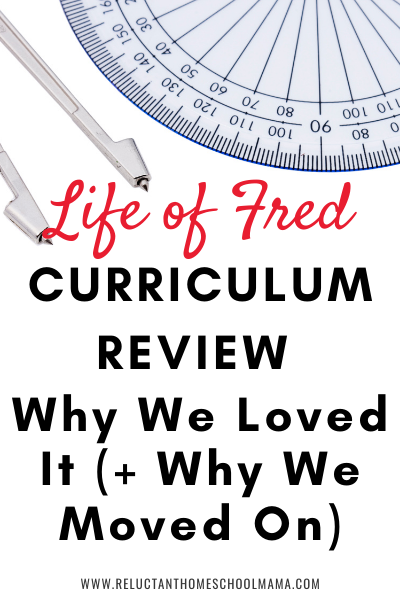 curriculum review life of fred pin