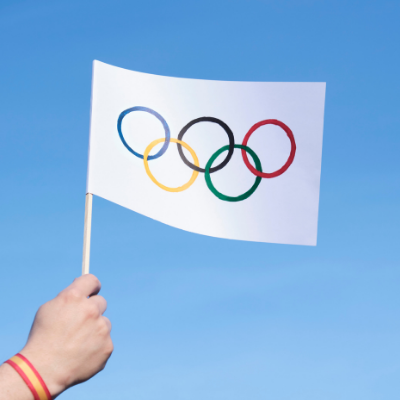 olympic flag with rings
