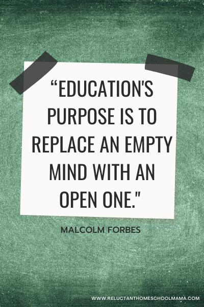 purpose of education quote