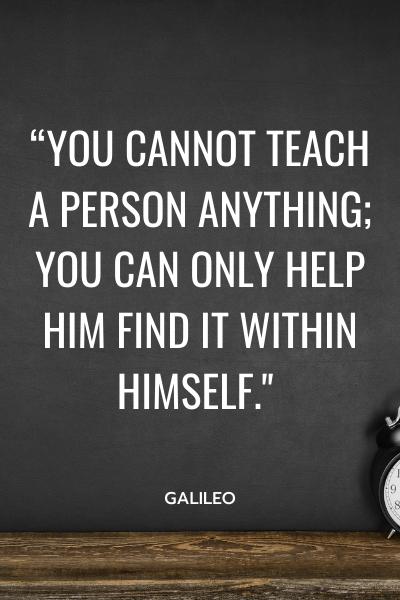 galileo teaching quote
