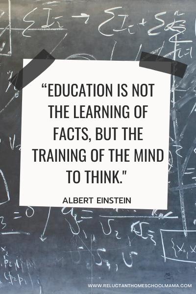 einstein homeschool quote