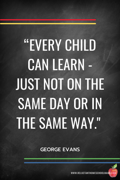 homeschool quote about learning