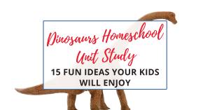 dinosaur homeschool unit study